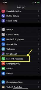 FaceID & Passcode